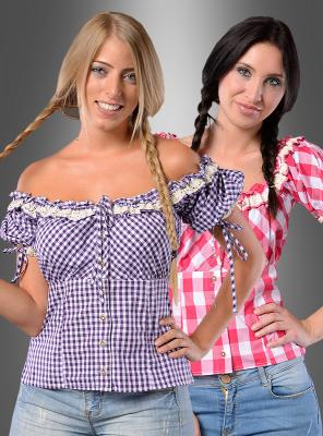 Bavarian Checked Blouse