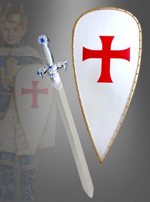 Deluxe Kreuzritter Schild und Schwert