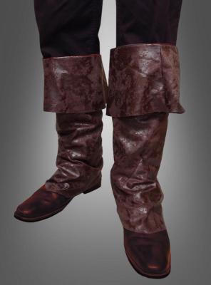Stiefelüberzieher braun aus Stoff
