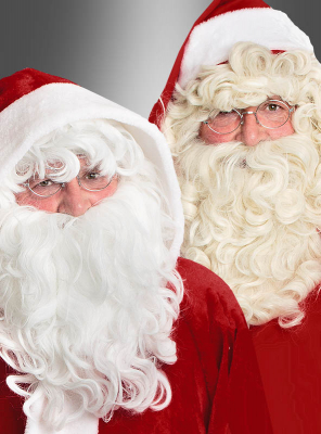 Santa Clause Beard and Wig deluxe
