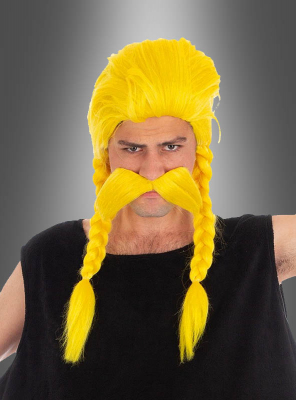 Unhygienix Wig and Mustache