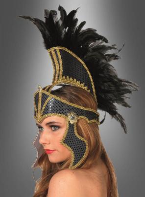 Gladiatorin Kopfschmuck mit Federn