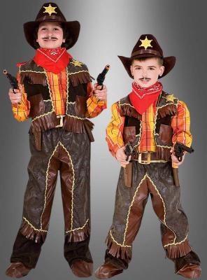 Deluxe Cowboy Kostüm für Kinder mit Zubehör