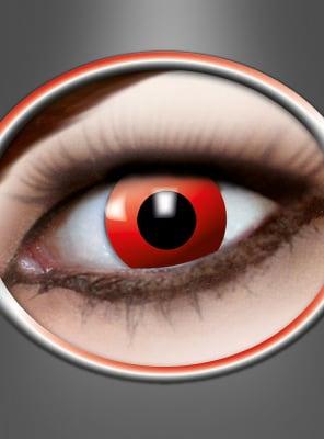 Rote Kontaktlinsen mit Stärke