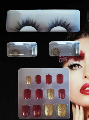Glamour Styling Set red gold