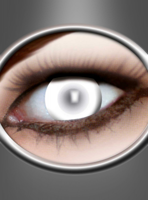 3 Monats Kontaktlinsen Zombie  blind weiß