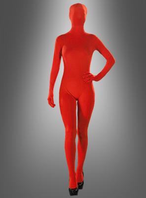 Roter Speedsuit Ganzkörperkostüm