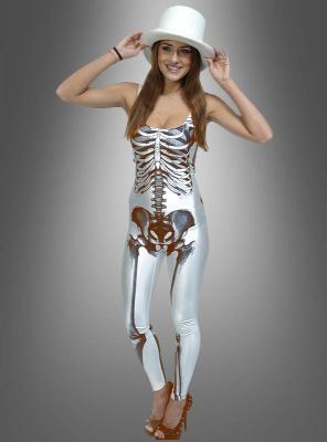 White Skeleton Suit for Women