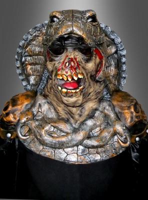 Kobra Kostüm mit Schlangenmaske deluxe