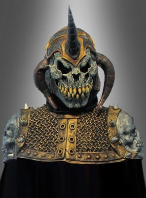 Dämonenkrieger Kostüm mit Vollmaske deluxe