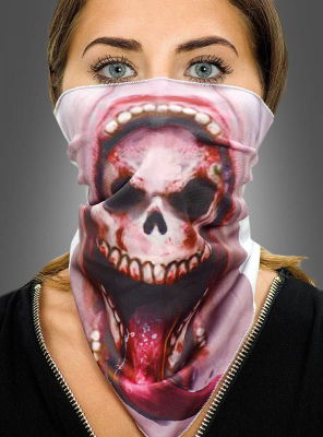 Skull Mouth Bandana Scarf