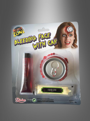 Bleeding Face with Can Make up Kit
