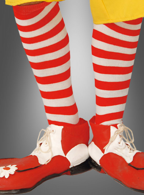 Hooped Socks red white