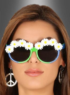Brille mit Blumen für Hippies