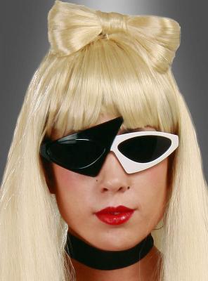 Sonnenbrille Gaga schwarz-weiß