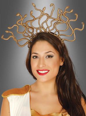 Medusa Kopfschmuck gold