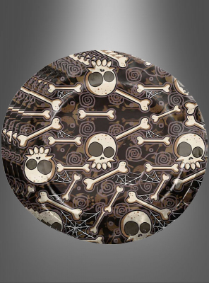 8 Paper Plates Halloween with Bones