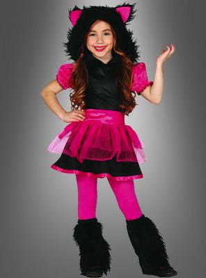 Wolf pink schwarz Mädchenkostüm
