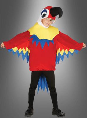 Paradiesvogel Papagei Kinderkostüm