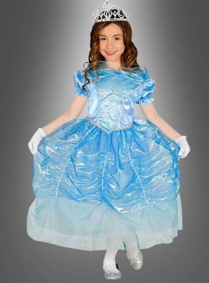 Prinzessinnen Kleid für Mädchen blau