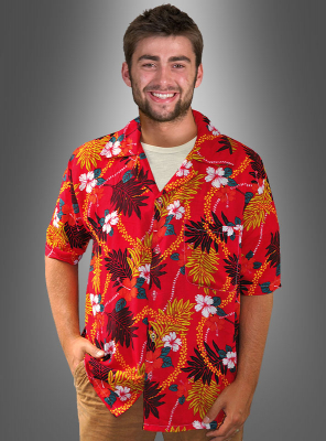 Hawaiian Shirt blossom red