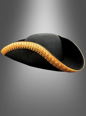 Dreispitz Hut mit goldener Borte