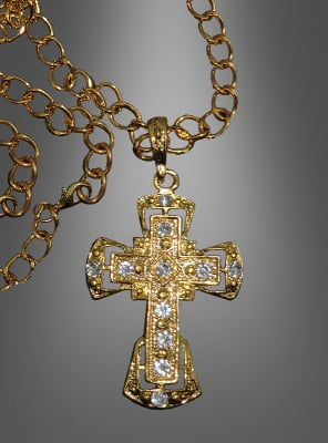 Golden Necklace with Cross