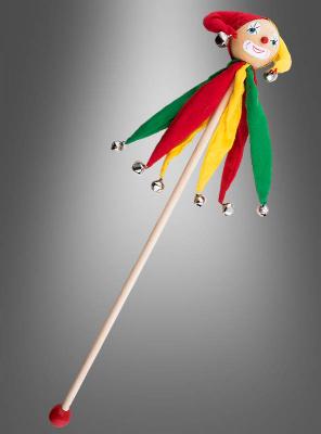 Hofnarr Stab mit Schellen 60 cm