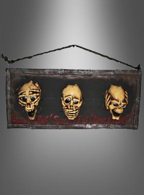 Die drei Schädel Wanddekoration Halloween