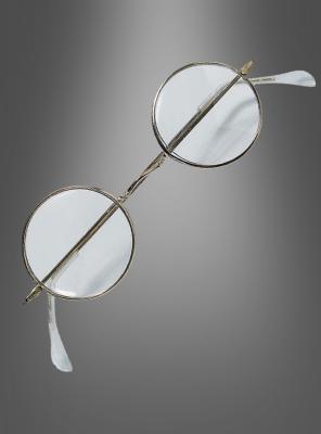 Nickelbrille mit runden Kunststoffgläsern