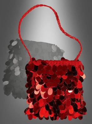 Rote Charleston Handtasche 20er 30er Jahre