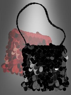 Schwarze Charleston Handtasche 20er 30er Jahre