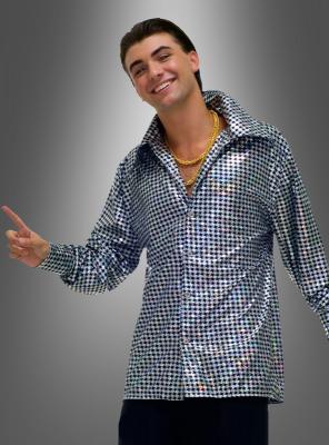 Übergröße Disco Glitterkostüm Hemd