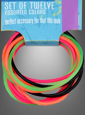 80er Jahre Disco Neon Armbänder