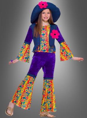 Blumenkind Mädchen Hippie Kostüm