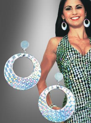 Clip Ohrringe Hologramm Disco