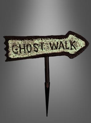 Wegweiser Leuchtschild Ghost Walk