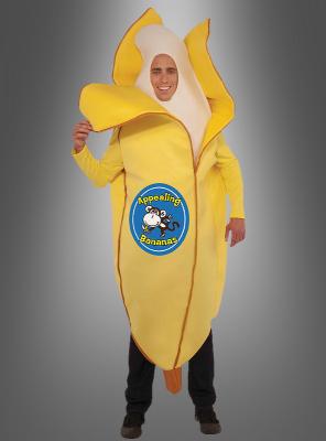 Banane halb geschält Erwachsenenkostüm