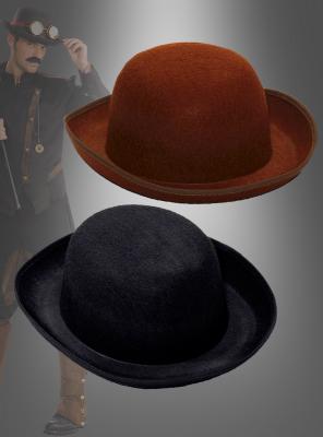 Melone Derby Hut Steampunk schwarz oder braun