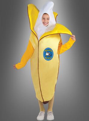 Banane Kinderkostüm halb geschält