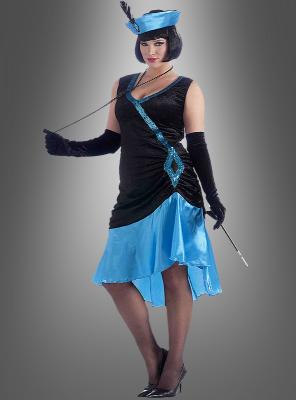 XL Betty Flapper Charleston blau