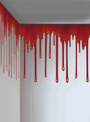 Bloody Wall Roll Decoration