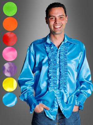 Deluxe Rüschenhemd für 70er Schlagerparty