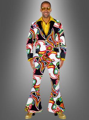 Schlagerstar Kostüm Neon Psychodelic