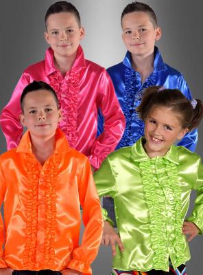 Rüschenhemd für Kinder verschiedene Farben