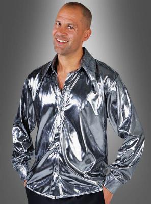 Silbernes Discofever Hemd