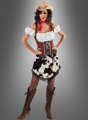 Cowhide Cowgirl Outfit