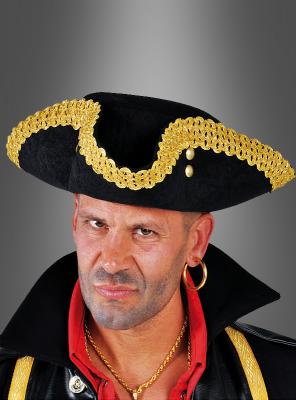 Tricorn with gold border