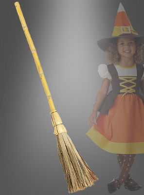 Deluxe Bamboo Witch Broom