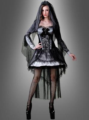Sexy Gothic Braut Damenkostüm